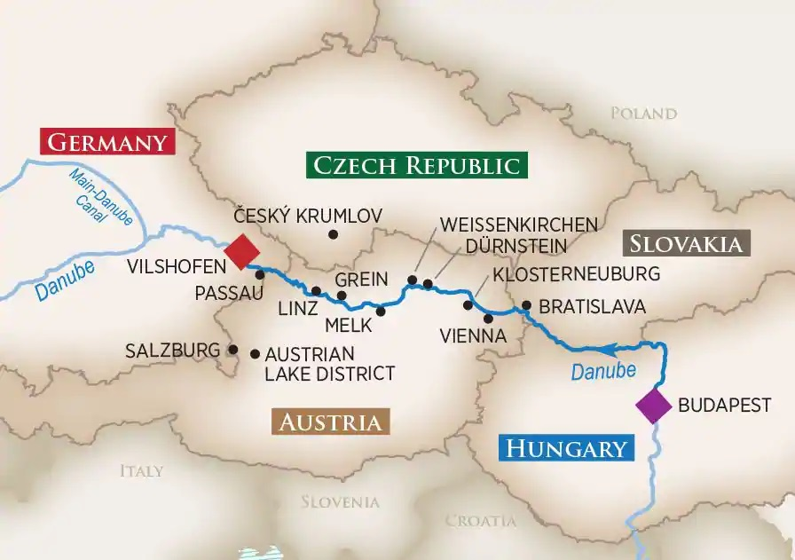 Tour Map with River Points